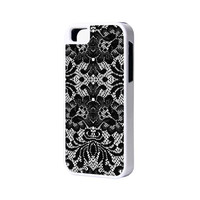 Lace Floral iPhone 6 Plus 6 5S 5 5C 4 Rubber Case