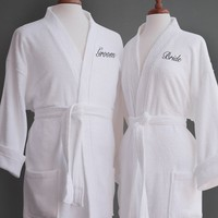 Signature Egyptian Cotton Couple Terry Spa Robes