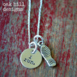 hand stamped sterling silver i run necklace by OakHillDesigns