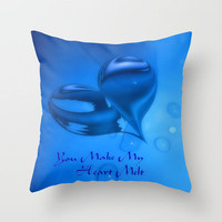 You Make My Heart Melt Throw Pillow by Brian Raggatt    | Society6