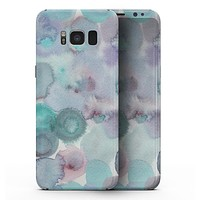 Green Blotted WaterColor Texture - Samsung Galaxy S8 Full-Body Skin Kit