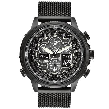 Men's Citizen Eco-Drive Navihawk A-T Black Dial Watch