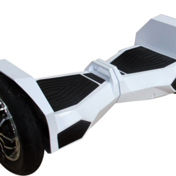 "UL 2272 M38 All Terrain 10"" Lambo  Bluetooth Hoverboard Smart Self Balancing Electric White Scooter v5"
