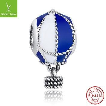 Fashion 925 Sterling Silver Up And Away Charm With Pearl Fit Original Pandora Bracelet