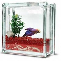 Aquablock Fish Tank, Red And White | X-treme Geek