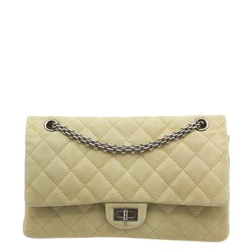 Chanel Reissue 2.55 Green Caviar Quilted Nubuck Leather Shoulder Bag
