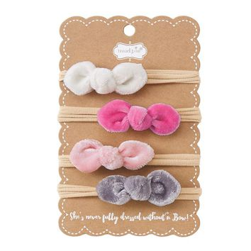 MUD PIE MINI VELVET HEADBAND SET