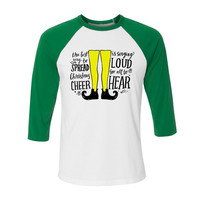 Buddy the Elf Christmas Cheer Baseball Tee