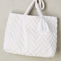 Isota Chevron Tote in White Size: One Size Bags