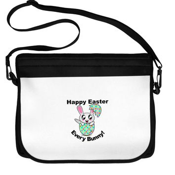Happy Easter Every Bunny Neoprene Laptop Shoulder Bag by TooLoud