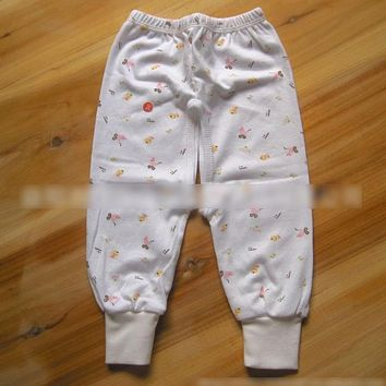 Y328 Free shipping Pants cotton printed baby pants newborn infant cotton Autumn cotton pants A variety of colors randomly send