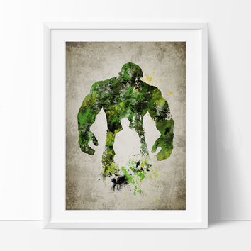 Hulk Art Print, Hulk Poster, Hulk Wall Art, Superheroes Poster, Super Hero, Marvel art, For gift, Hulk art print, Kids Hulk (270)