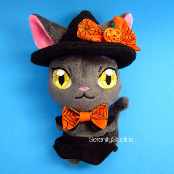 Halloween Witch Pocket Cat Plush