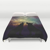 Mid-Winter Moon - Soulmates Duvet Cover by soaring anchor designs ⚓   Society6