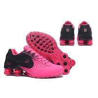 Women's Nike Shox OZ D Shoes Pink/Black