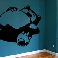 Snorlax Pokemon Wall Decal Sticker Wall Art Vinyl Decal Nintendo Gamer