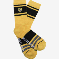 Harry Potter Hufflepuff Embroidered Crew Socks