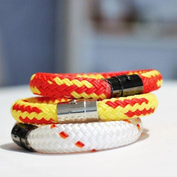 Bracelets | Jewelry | Accessory | Nautical | Rope Bracelets | Sailboat | Sailor | Sail Rope | Magnetic Clasp | Unisex | Accessories | US