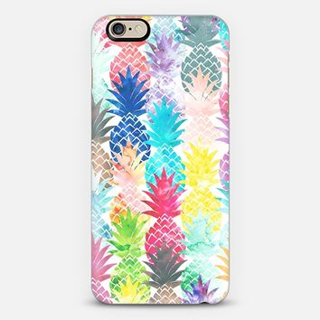 Hawaiian Pineapple Pattern Tropical Watercolor by Girly Trend iPhone 6 case by Girly Trend | Casetify