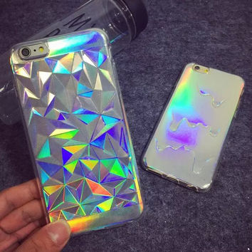 Hologram Iridescent Triangle Pastel Case For iPhone 5S 5 6 6plus