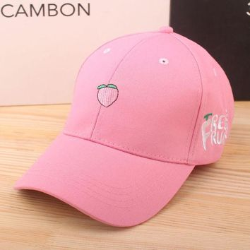ca ICIKTM4 Korean Embroidery Fruits Lovely Sweets Hats Outdoors Travel Baseball Cap [10683101639]