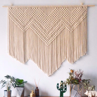 Large Handmade Macrame Wall Decoration