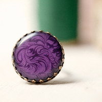 Purple Cocktail Ring  (R045)