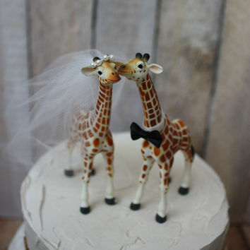 Giraffe Wedding Cake Topper