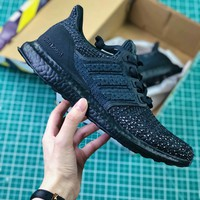 Adidas Ultra Boost Ub Clima 4.0 Triple Black Sport Running Shoes - Best Online Sale