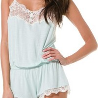 EBERJEY ESTHER LACE TRIM TEDDY | Swell.com