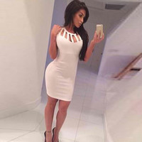 Sexy tight sleeveless dresses AZ910BB