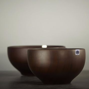 Wooden Bowl Natural JUJUBE Hand-Made Tableware