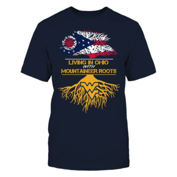 West Virginia Mountaineers - Living Roots Ohio - T-Shirt - Officially Licensed Fashion Sports Apparel