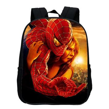 Boys Backpack Bag 2017 Hot Sale Oxford 12 Inches Cartoon Baby Small s Printing Hero Spiderman Kids School Bags for Children SchoolBag AT_61_4