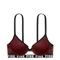Leopard Lace Push-Up - PINK - Victoria's Secret