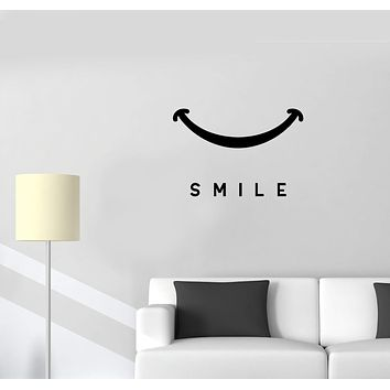 Wall Decal Positive Cheerful Decor Smile Happiness Vinyl Sticker (ed1024)