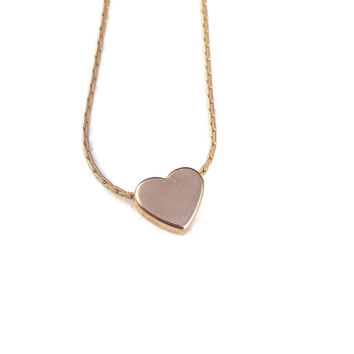 Delicate Heart on Rose Gold Filled chain necklace