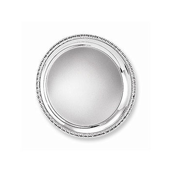 Silver-plated 10 Round Fancy Edge Tray