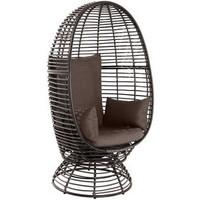 Foster Wicker Swivel Chair