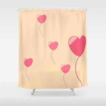 Love balloon Shower Curtain by Nick's Emporium | Society6