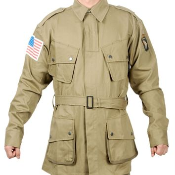 WWII US ARMY SOLDIER M1942 M42 AIRBORNE PARATROOPER UNIFORM MILITARY JACKET IN SIZES - World military Store