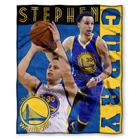 Golden State Warriors NBA Stephen Curry Silk Touch Throw (50in x 60in)
