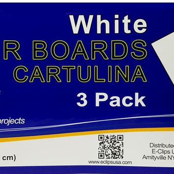 "Poster Board - White - 3 sheets - 14"""" x 22"""" Case Pack 36"