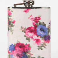 Urban Outfitters - Floral Fabric Wrapped Flask