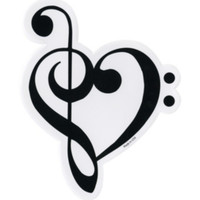 Music Clef Heart Sticker