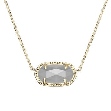 Elisa Gold Pendant Necklace in Slate - Kendra Scott Jewelry