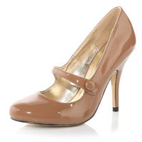 Beige patent Mary Jane shoes - Shoes Sale  - Shoes  Boots  - Dorothy Perkins