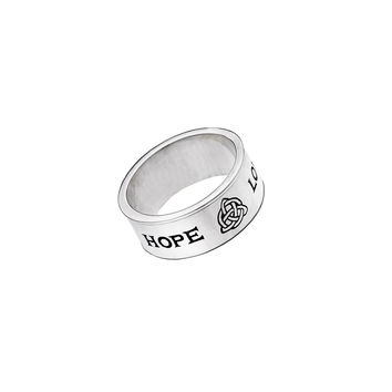 Love/Hope/Faith Sterling Silver Spin Ring