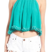 Lovers + Friends 'Botanic' Crop Halter Top | Nordstrom