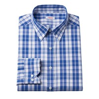 IZOD Classic-Fit Plaid Button-Down Collar Dress Shirt - Men, Size: